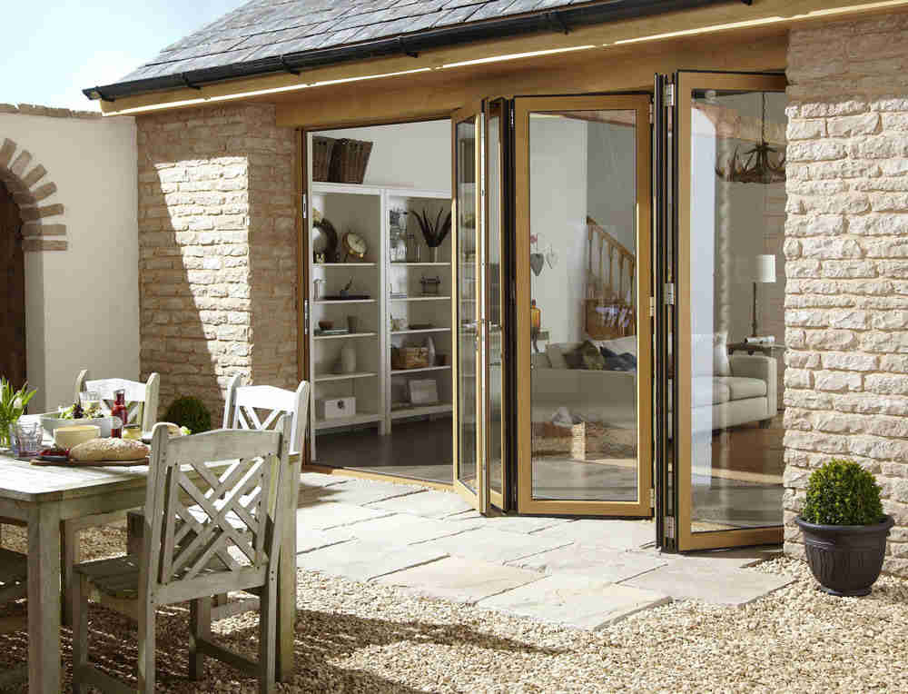 bifold doors leading to outside