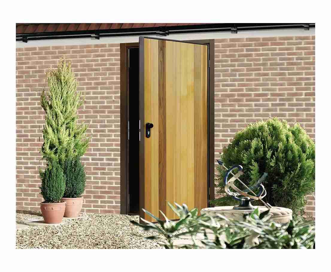 side hinged garage door entrance