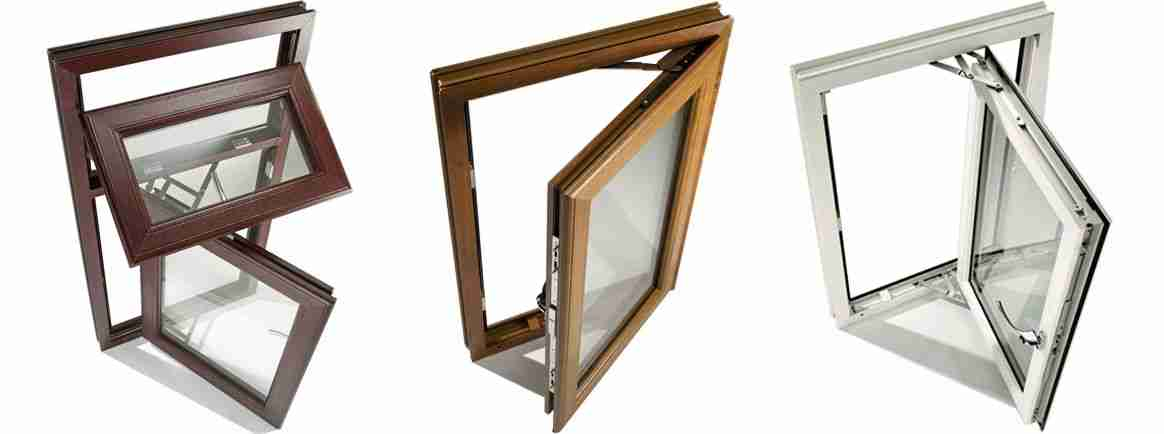 evander casement windows in aluminium timber upvc