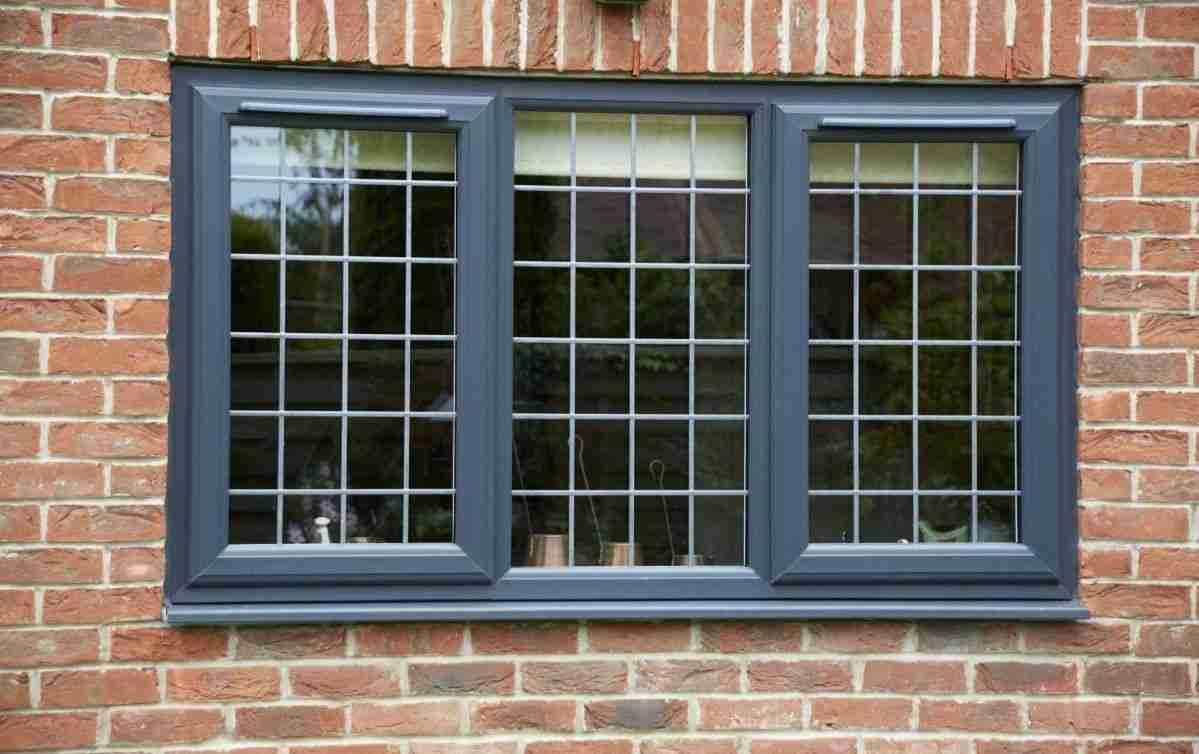 coloured UPVC window frame