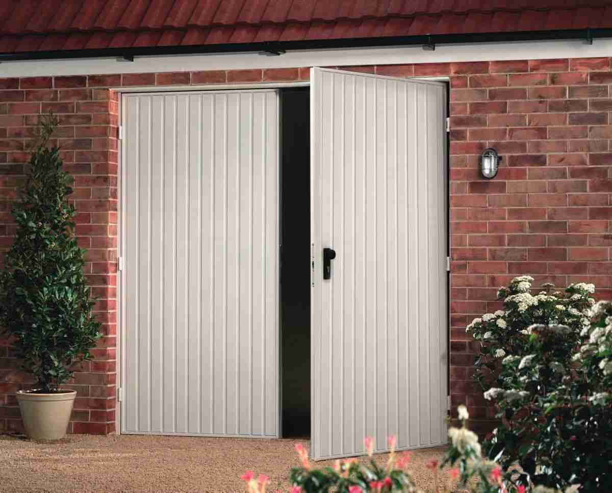 side hinged garage door easy to use