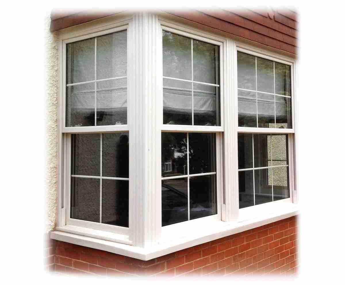 bay windows letting in sunlight