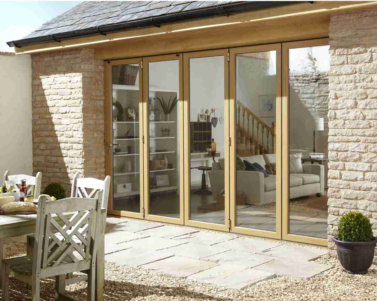 bifold door leading to patio