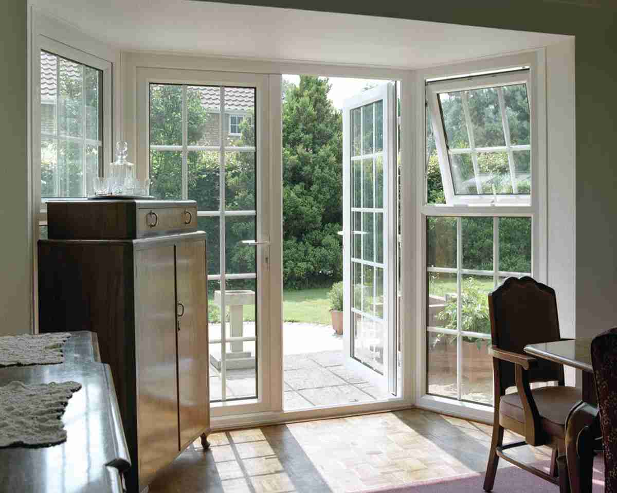 french doors leading out to garden