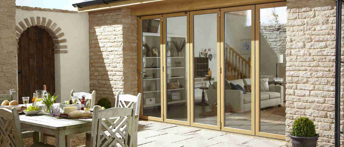 bifold doors leading out to patio