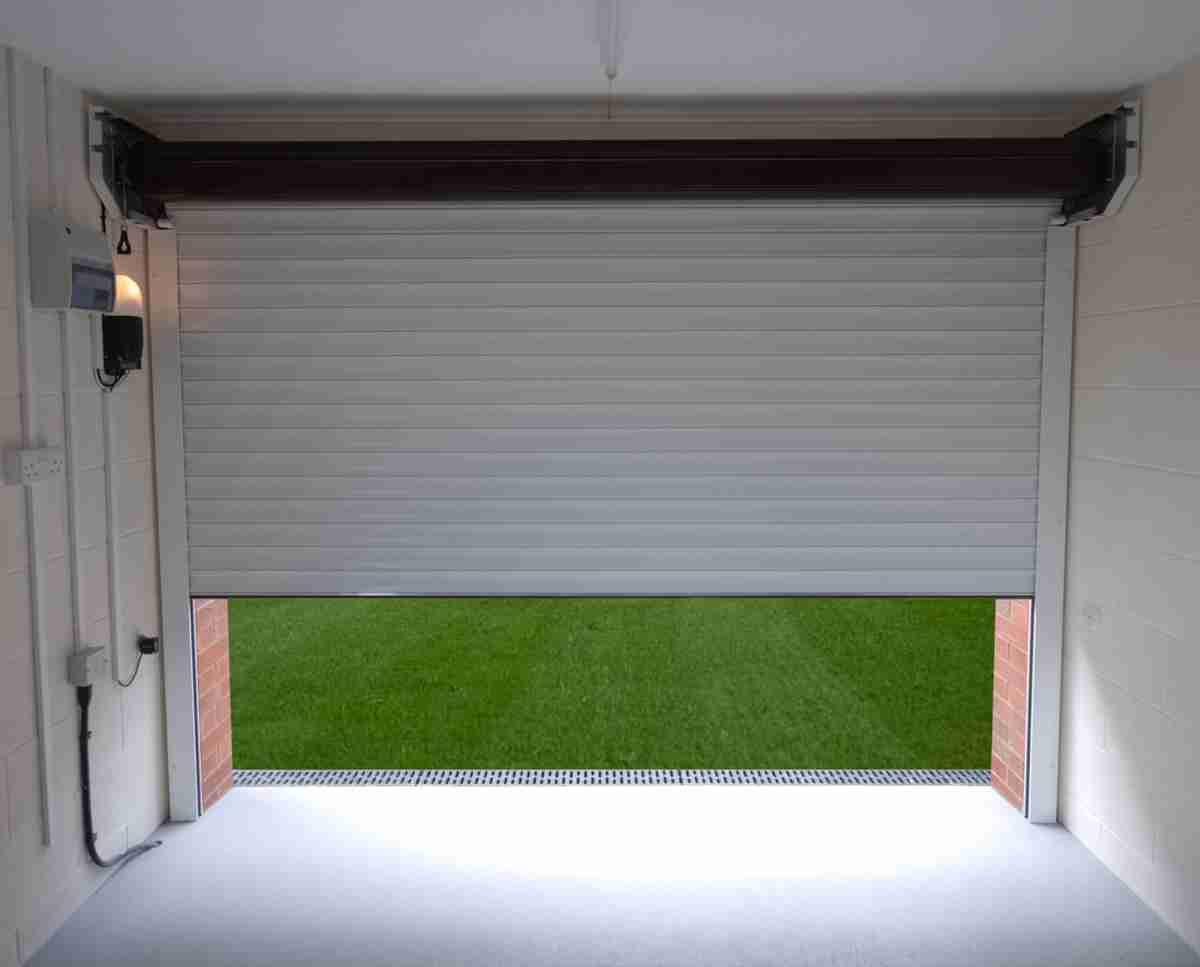 roller garage door from inside