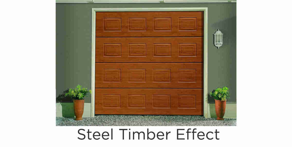 Sectional steel timber effect
