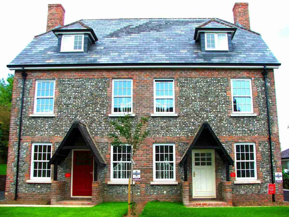 authentic home with sliding sash