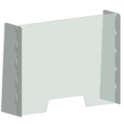 Example freestanding perspex screen