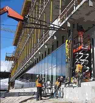 Evander glazing contractors working on site