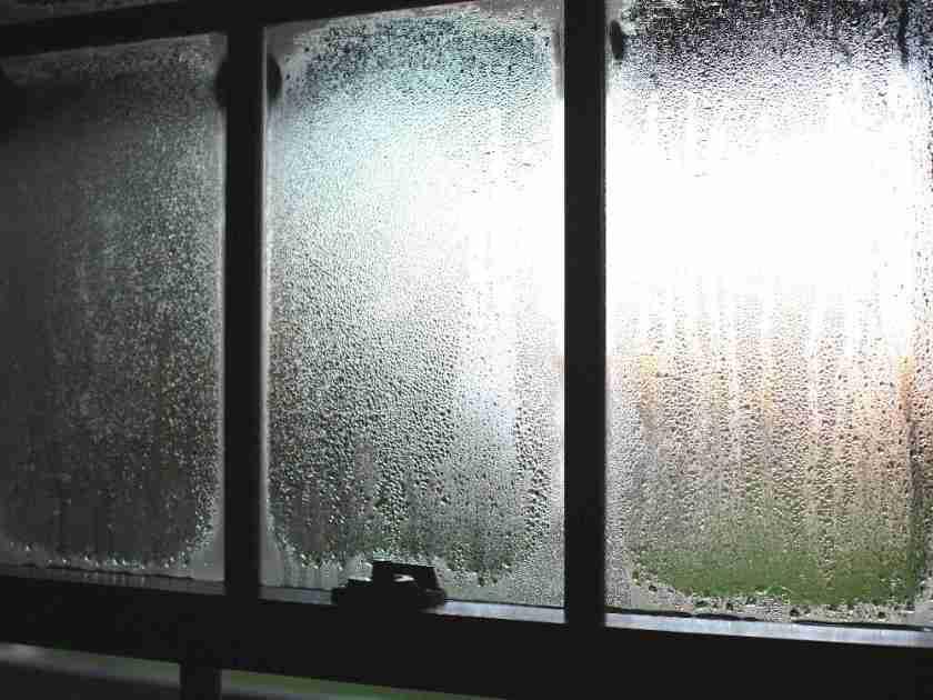 condensation on old windows inside