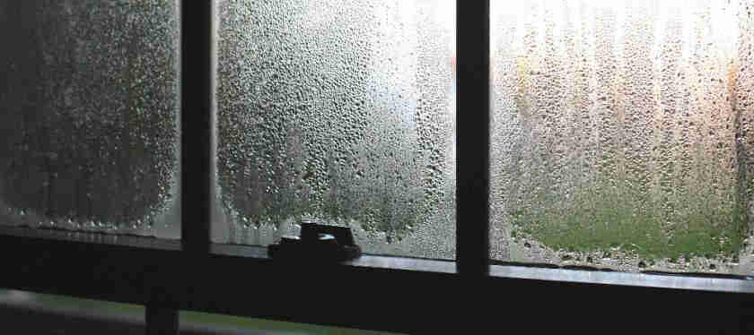 more condensation on inside windows