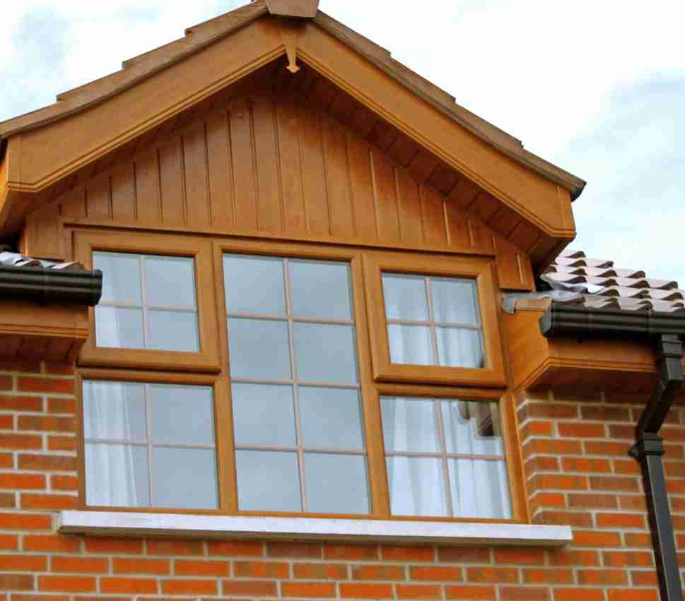 casement window on house