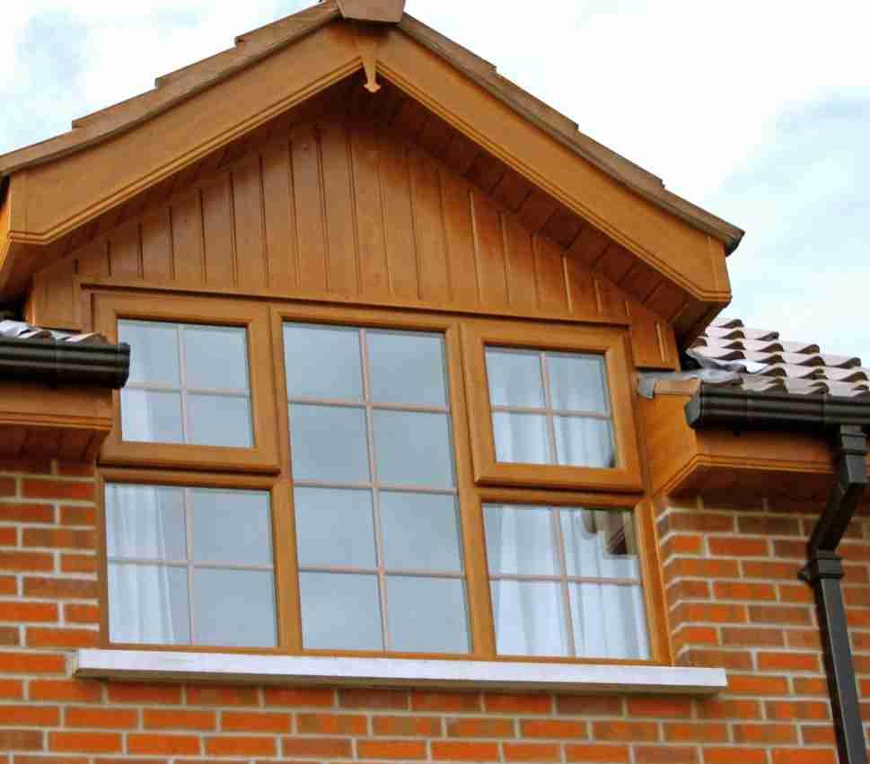 casement window on house