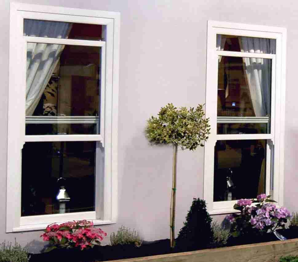 sash windows on new property
