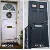 Before and After Composite Door Installation