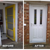 Before and After New Installation of uPVC Door